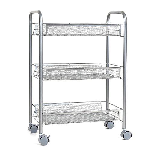 homfa k chenwagen servierwagen platzsparend rollwagen. Black Bedroom Furniture Sets. Home Design Ideas