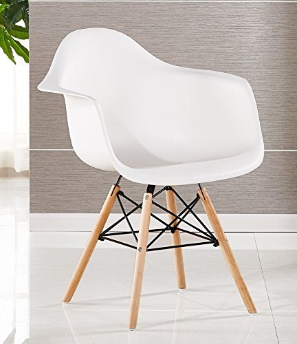bentley home stuhl polypropylen und aus buchenholz wei 60 x 62 x 80 cm potibe. Black Bedroom Furniture Sets. Home Design Ideas
