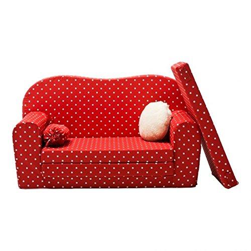 gepetto maxi kinder schlafsofa rot zum ausklappen mit extra matratze potibe. Black Bedroom Furniture Sets. Home Design Ideas