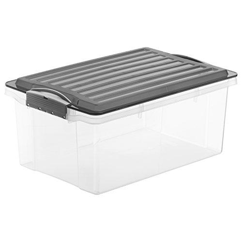 rotho 1776008812 aufbewahrungskiste compact mit deckel lager box aus kunststoff im din a4. Black Bedroom Furniture Sets. Home Design Ideas
