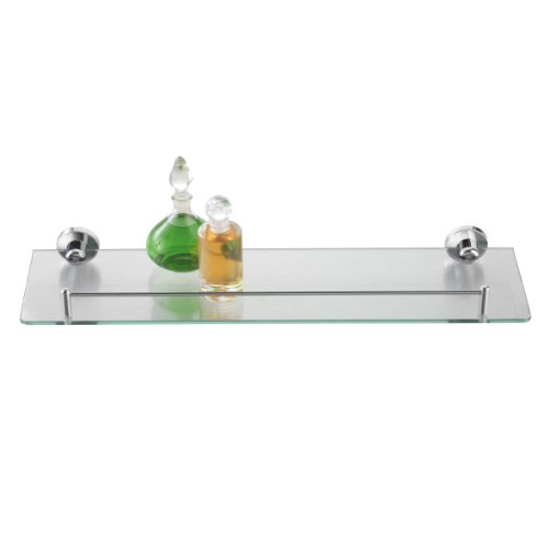 Wandregal Bad & WC - Badezimmer-Regal mit Reling aus Chrom ...