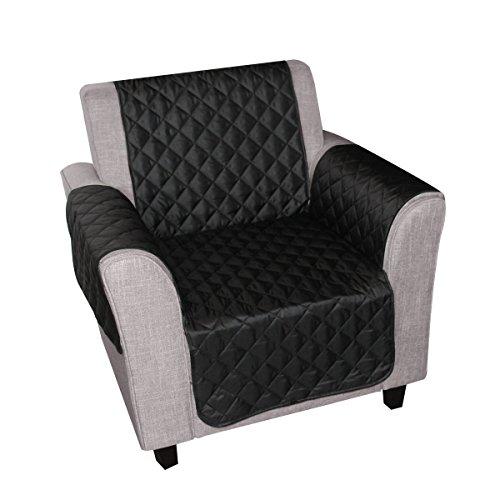newmeil sofaschoner sesselbezug 1 sitzer wasserdicht anti rutsch schwarz grau koffee schwarz. Black Bedroom Furniture Sets. Home Design Ideas