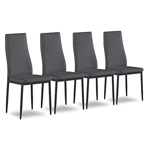 4er set esszimmerstuhl k chenst hle polsterstuhl. Black Bedroom Furniture Sets. Home Design Ideas