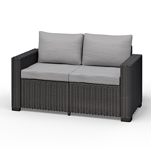 allibert california 2 sitzer couch polyrattan gartenm bel lounge rattanoptik potibe. Black Bedroom Furniture Sets. Home Design Ideas