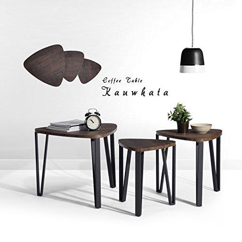 Braune Wandfarben Schlafzimmer Bett A Brauntane Als Wie: Aingoo Couchtisch Beistelltisch Nachttisch 3er Set Für