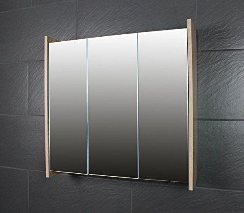 galdem frosti spiegelschrank 70cm badezimmerschrank wandschrank badm bel 3 spiegelt ren 6. Black Bedroom Furniture Sets. Home Design Ideas