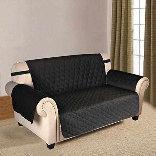 puppymate sofaschoner sofabezug 3 sitzer wasserdicht anti rutsch schwarz grau koffee schwarz. Black Bedroom Furniture Sets. Home Design Ideas