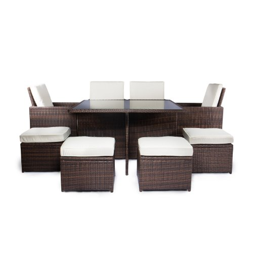 polyrattan lounge m bel f r garten balkon terrasse. Black Bedroom Furniture Sets. Home Design Ideas