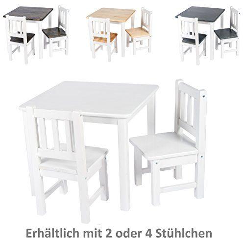 BOMI Kindertisch Mit 2 Stühlen Amy Aus Kiefer Massiv Holz