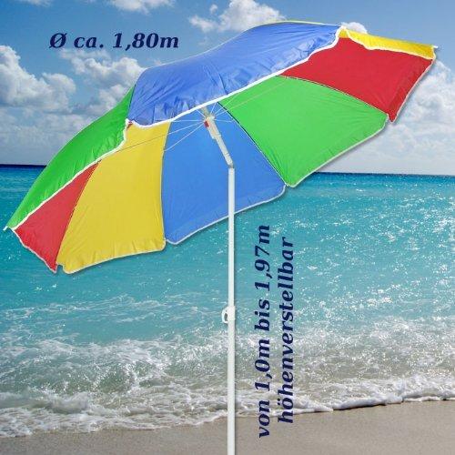 sonnenschirm 180cm strandschirm balkonschirm schirm regenbogen regenbogenfarben potibe. Black Bedroom Furniture Sets. Home Design Ideas