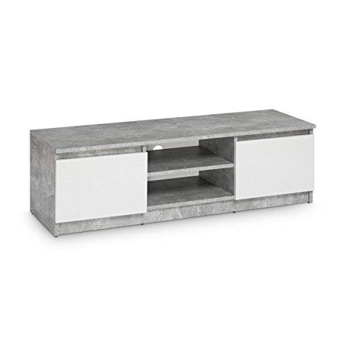 galdem tv lowboard board fernseher schrank fernsehtisch tv m bel unterschrank beton optik wei. Black Bedroom Furniture Sets. Home Design Ideas