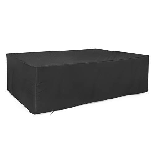 dokon abdeckung f r gartenm bel 420d oxford gewebe gartentisch schutzh lle rechteckig. Black Bedroom Furniture Sets. Home Design Ideas