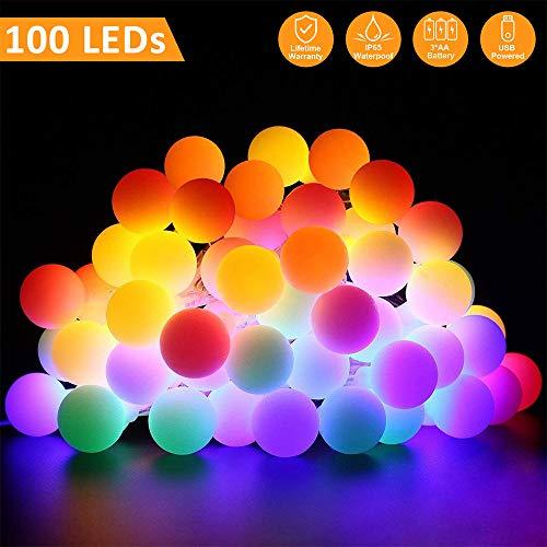 led lichterkette au en 10m 100 led lichterkette mit batterie usb lichterketten 2 in 1 bunt. Black Bedroom Furniture Sets. Home Design Ideas