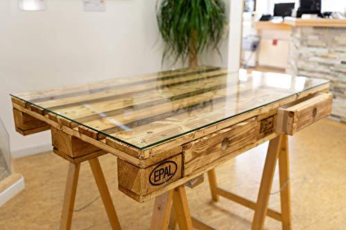 Glasplatte 120 X 80 : glasplatte glasscheibe f r euro palettenm bel 6mm 120 80 cm polierte kante ecken ~ Watch28wear.com Haus und Dekorationen