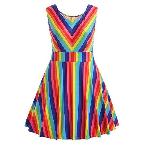 Top 10 Regenbogen Kleid Damen - Freizeitkleider für Damen ...